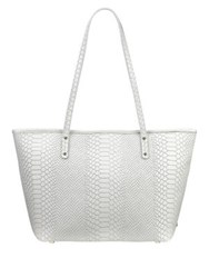 Gigi New York Zip Taylor Leather Tote White