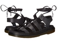 Dr. Martens Kristina Ghillie Sandal Black Polished Oily Illusion Women's Sandals