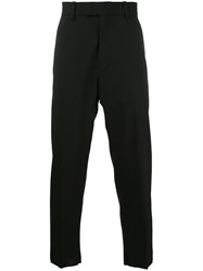 Oamc Cropped Tapered Trousers Men Spandex Elastane Virgin Wool 48 Black