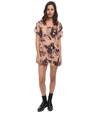 Red Valentino Tattoo Print Silk Muslin Dress