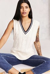Bdg Oversized Cable Knit Sweater Vest Ivory