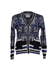 White Mountaineering Knitwear Cardigans Men Dark Blue