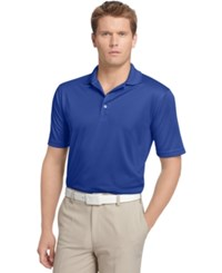 Izod Performance Solid Grid Golf Polo Cobalt Blue