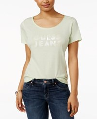 Guess Scoop Neck Graphic T Shirt Gleam