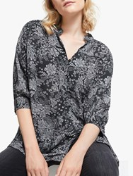 And Or Calito Floral Shirt Charcoal