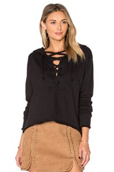 Lna Lace Up Hoodie Black