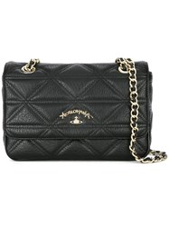 Vivienne Westwood Anglomania Double Chain Shoulder Bag Black