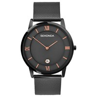 Sekonda 1187.00 Men's Date Bracelet Strap Watch Gunmetal