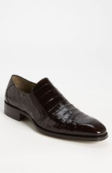 Men's Mezlan 'Fiorello' Crocodile Loafer Dark Brown