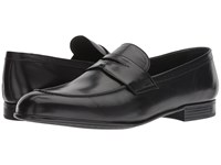 Canali Classic Penny Loafer Black Slip On Shoes