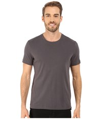 Kenneth Cole Sportswear Short Sleeve Rib Crew W Zipper Ash Grey Men's T Shirt Gray