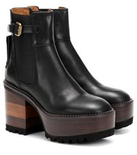 See By Chloe Leather Ankle Boots Black