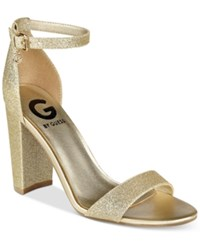 G By Guess Shantel Two Piece Sandals Women's Shoes Gold Glam
