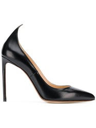 Francesco Russo Pointed Heel Pumps Black