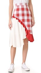 Pamplemousse Phoebe Skirt Red White