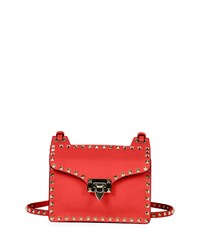 Rockstud Lock Flap Square Shoulder Bag Red Valentino