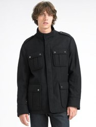 Hugo Boss Wool Military Jacket Black
