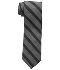 Calvin Klein Gold Glimmer Multi Stripe Charcoal Ties Gray