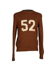 Roy Rogers Roy Roger's Knitwear Jumpers Men Brown