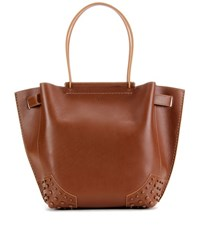 Tod's Gommini Small Leather Tote Brown