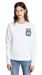 Michaela Buerger Perfume Bottle Sweatshirt White