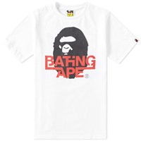 A Bathing Ape Logo Tee White