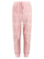 Ashish Embellished Cotton Blend Track Pants Pink