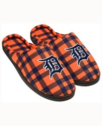 Forever Collectibles Detroit Tigers Flannel Slide Slippers Navy