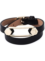 Tod's Metal Pin Wrap Bracelet Black
