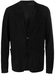 Salvatore Santoro Relaxed Fit Blazer Black