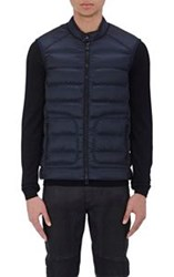 Belstaff Nylon Channel Quilted Vest Blue