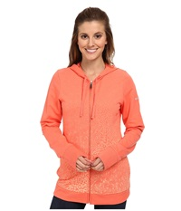 Columbia Spotted Ombre Full Zip Hoodie Coral Flame Women's Sweatshirt Orange