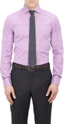 Ralph Lauren Black Label Micro Plaid Poplin Shirt Pink