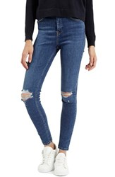 Women's Topshop Moto 'Jamie' Ripped High Rise Ankle Skinny Jeans