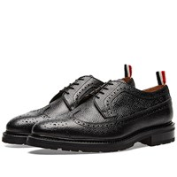 Thom Browne Commando Sole Longwing Brogue Black