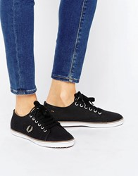 Fred Perry Kingston Twill Black Trainers Black Driftwood Dolp