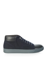 Lanvin Felt And Leather High Top Trainers