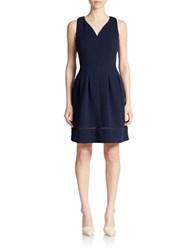 Taylor Knit Fit And Flare Dress Navy