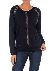 William Rast Beaded Sweater Black