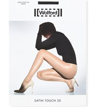 Wolford Satin Touch 20 Nylon Blend Tights Nearly Black