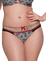 Curvy Kate Illusion Midi Briefs Cranberry Black