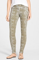 Cj By Cookie Johnson 'Joy' Python Print Skinny Pants Olive