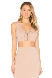 By The Way. Gina Crop Top Beige