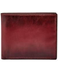Fossil Men's Paul Rfid Blocking Leather Ombre Bifold Wallet Cordovan