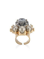 Anton Heunis Large Oval Pearl Cluster Ring Silver Gold