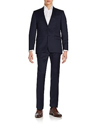 Calvin Klein Extreme Slim Fit Solid Wool Suit Navy