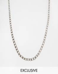 Reclaimed Vintage Box Chain Necklace Silver