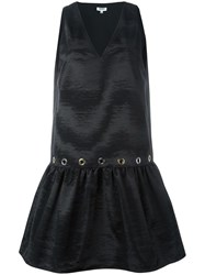 Kenzo Flared Shift Dress Black