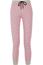 Markus Lupfer Smacker Printed Cotton Terry Track Pants