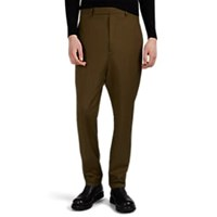 Rick Owens Worsted Wool Drop Rise Trousers Olive